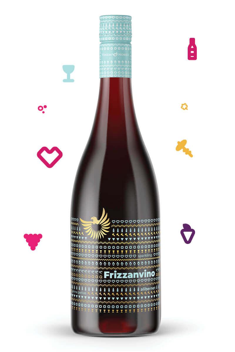 FRIZZANVINO Alibernet   Vinum Nobile Winery   Slovenské vína svetovej kvality